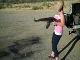 Girl AK-47 Dual fire
