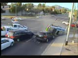 Car crash running a red light