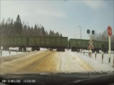 Car gets hit by train at crossing