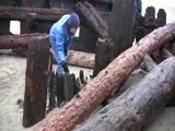 Shipwreck uncovered at Coos Bay, Oregon