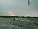 Kite surfer hit by lightning