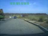 Car accident with tank