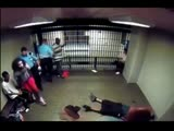 Jail cell fight
