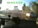 Drunk driver crash caught on dashcam
