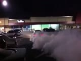 Car burnout busted by the police!