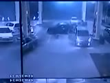 Out of control car smashes into petrol station