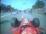 Formula 1 fans nearly get hit