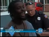Thug fights security officer