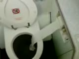 Airplane toilet paper prank