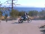 Motorbike burnout fail